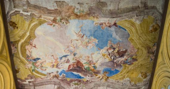 isola del 加尔达, 天花板, 绘画, 艺术, 建筑, 装饰, 内政