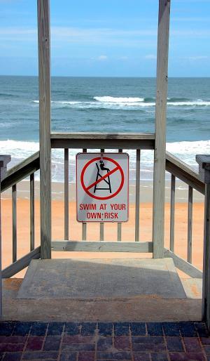 海滩, 入口, 走道, 海洋, 水, 波, 海