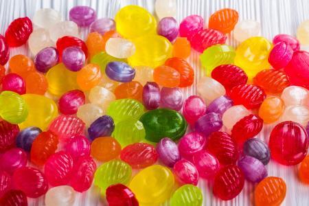 焦糖, 糖果, 甜品, 甜, 食品, 多彩, 光明