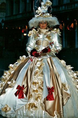 嘉年华, 面具, 图, 仪式, 威尼斯, 意大利, 装饰