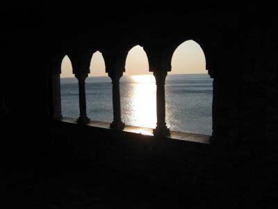 海, 傍晚的太阳, 意大利利维拉