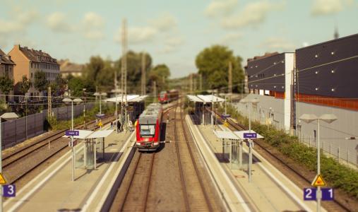 建筑, 火车站, 火车, 城市, 停止, 建设, 多特蒙德
