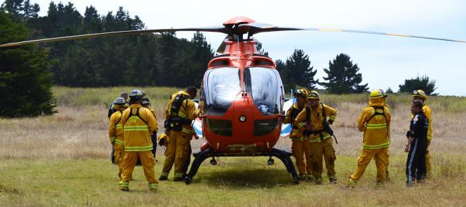 直升机, 救援, 紧急, 医疗, 飞机, 男子, 户外