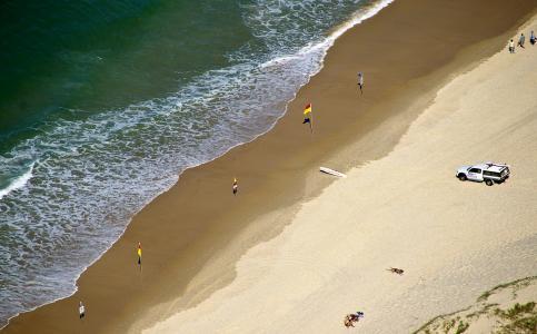 金海岸, 海滩, 海, 海洋, 沙子, 假期, 游泳