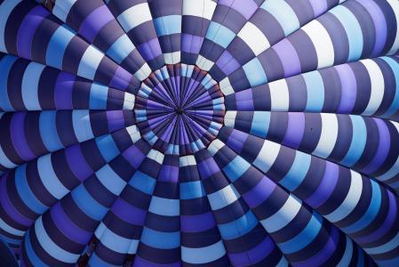 蓝色, 紫色, 白色, 黑色, 螺旋, 天花板, 雨伞