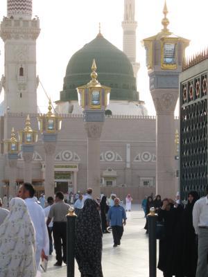 清真寺, 伊斯兰, 先知城, 穆斯林, 绿色圆顶, 祈祷, 建筑