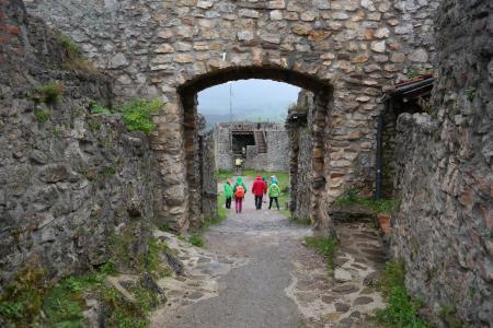 城堡, 艾森伯格堡, 石头, 墙上, 中世纪, 目标, 城堡大门