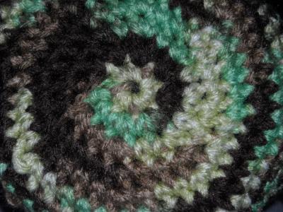 伪装, 圈子, 纱线, 钩针, 黑色, 绿色, 棕色