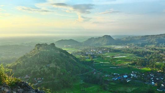 景观, 山, 草, 户外, 森林, 风光, 山风景