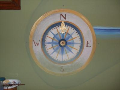 墙画, 指南针, falidekor