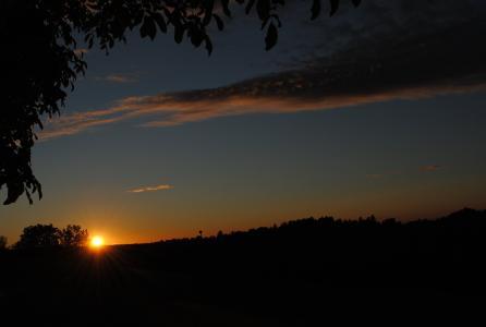 日落, 大纲, 景观, 天空, 黑色