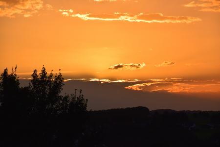 日落, 云彩, 傍晚的天空, 天空, 余辉, abendstimmung, 晚上