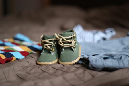 鞋子, 怀孕, 儿童, 服装, 家庭, 亲爱的, 鞋子