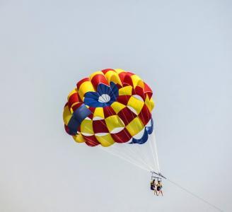 降落伞, 滑翔伞, 颜色, 气球, 天空, 体育, 活动
