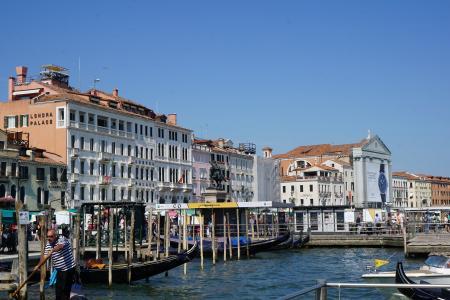 威尼斯, 运河, 水, 船夫, 旅行, 旅游, 旅游