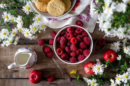 覆盆子, 浆果, 成熟, 覆盆子的浆果, 夏季, 花园, 特写