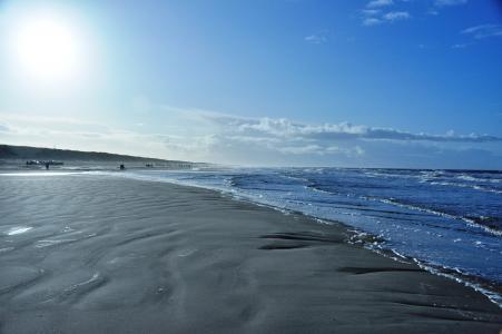 丹麦, 光, 夏季, 太阳, 海滩, 地狱, 蓝蓝的天空