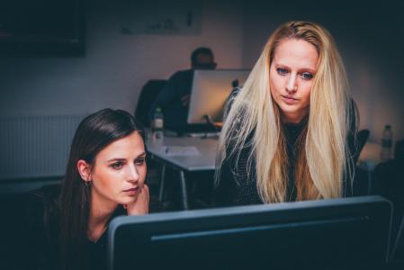 妇女, 团队合作, 团队, 业务, 人, 办公室, 工作的女人