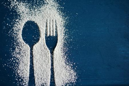 勺子, 叉子, 餐具, 糖霜, 剪影, 吃, 邀请