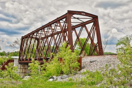 火车栈桥, 历史, 铁, 钢, 古董, 锈, 金属