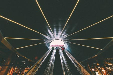 人, 以, 图片, scalator, 光, 灯, 照明