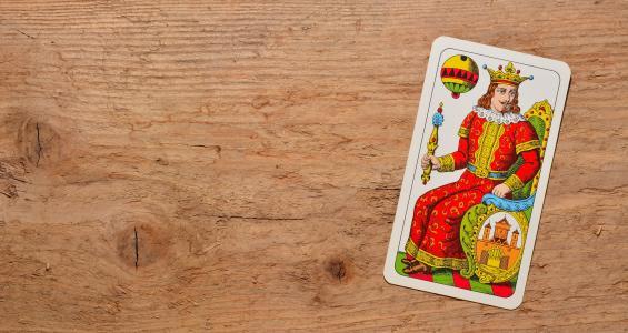 扑克牌, 国王, 夹, 钻石, 德国蟑螂, 背景, 木材