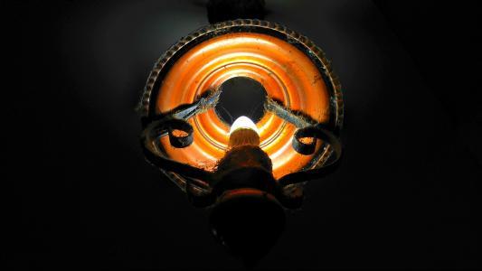 灯, 光, 灯泡, 铁, 金属, 蜘蛛网, 老