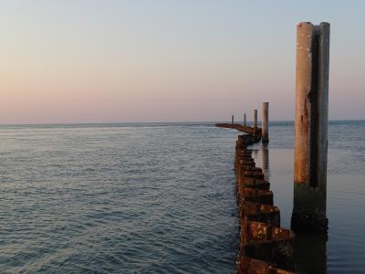 海, 边框, 酒吧, 水, 远