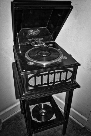 留声机, 电唱机, 老, 历史, 年份, 乙烯基, 记录