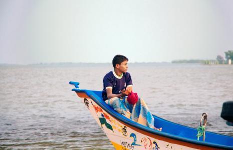渔夫, 泰米尔语, 男孩, 小船, 海, 孤独, 航海的船只