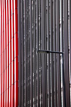 灯柱, 线条, 鹿特丹, 模式, 背景