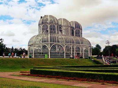 植物园, 库里蒂巴, 巴西, 橘园, 云的天空, 旅游目的地, 建筑
