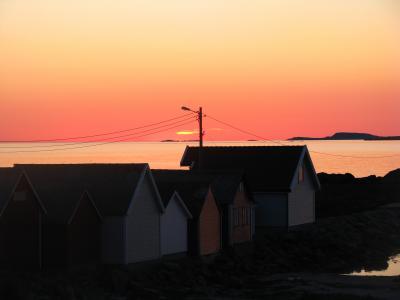房屋, 挪威, 傍晚的太阳