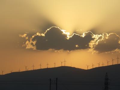 太阳, 天空, 日落, 云彩, 电力, 燃料和发电, 技术