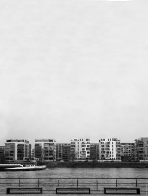法兰克福, 天际线, 阁楼, 放松, 城市, 生活方式, 多云