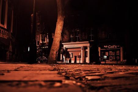 睡觉, 城市, 睡眠, 晚上, 晚上, 黑暗, 建筑
