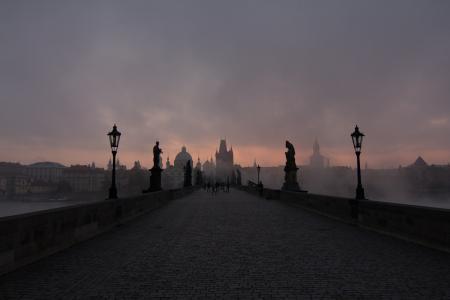 布拉格, 桥梁, 捷克共和国, 查理大桥, 中世纪, 欧洲, 城市