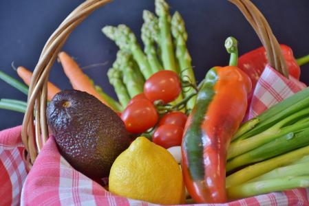 蔬菜, 芦笋, 西红柿, 韭菜, 柠檬, 辣椒粉, 绿芦笋