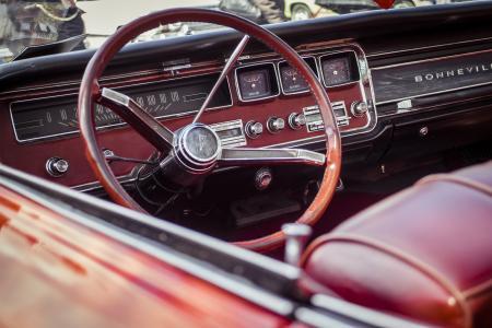 棕色, 转向, 车轮, 汽车, 方向盘, 经典的汽车, 红色