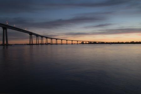 桥梁, 黎明, 黄昏, 地平线, 自然, 河, 风光