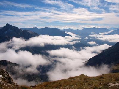 云彩, 山脉, 天空, 山, 自然, 山的顶峰, 风景