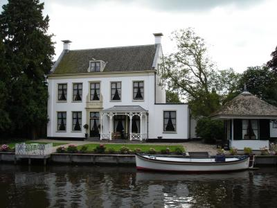 房屋, 水, 河, 支, 划船, 荷兰, 建筑