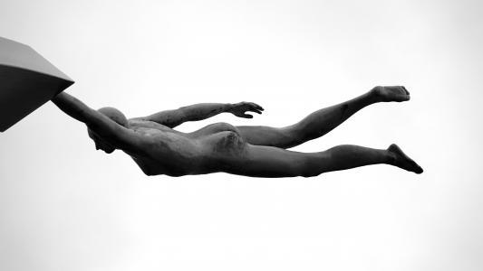 艺术, 黑白, 观点, 雕像, 公共域图像, 黑色和白色, 人
