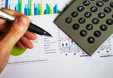 办公室, 钢笔, 计算器, 计算, 数据, 图表, 金融