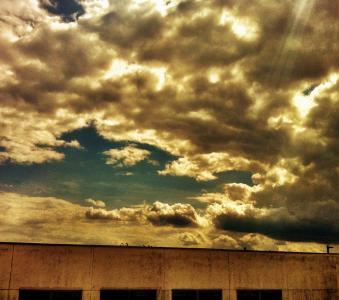 建设, 天空, 城市, 城市, 戏剧, 云彩, 云的天空