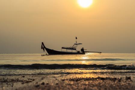 海, 船舶, 美丽的景色, 希望, 和平, 泰国