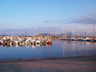 端口, 撒丁岛, 意大利, 小船, 帆船, 地中海, 帆船