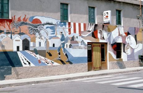 撒丁岛, murales, 壁画, 涂鸦, 政治, 街道, 建筑