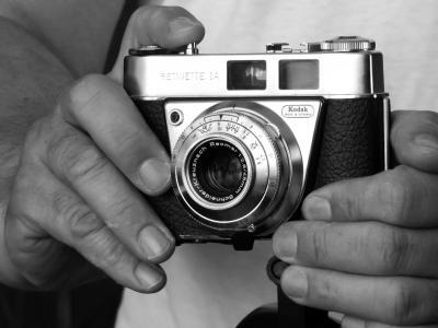 摄影师, 工作, 相机, 老, 照相机, 镜头, 复古