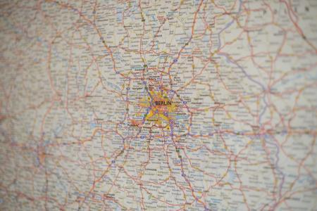 地图, 柏林, 德国, 地理, 旅行, 资本, 城市